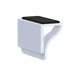 כיסוי מצלמת מסך Blinder כולל מנקה מסך בצבע לבן