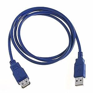 כבל USB לונג בצבע כחול