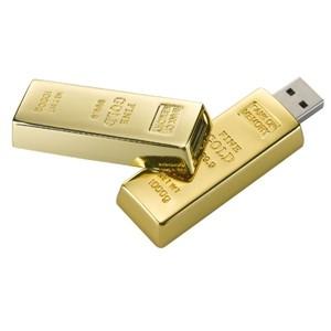 מטיל זהב - זיכרון נייד 16G ,USB 2.0 מתכת מבריקה