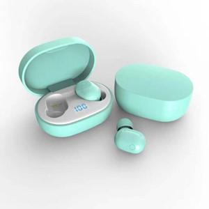 אוזניות בלוטוס כפתור עם קופסת טעינה
